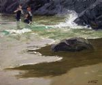 edward henry potthast bathers by a rocky coast oil paintings