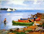 edward henry potthast canoeing painting