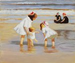 edward henry potthast children playing at the seashore oil paintings