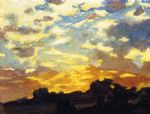 golden sunset by edward henry potthast painting