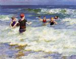 edward henry potthast in the surf 1 painting