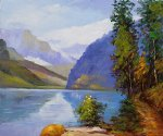 edward henry potthast lake louise british columbia painting