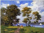 landscape paintings - landscape by the shore by edward henry potthast
