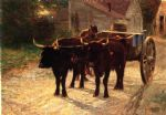edward henry potthast the ox cart painting