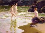 young bathers by edward henry potthast painting