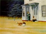 cape cod evening by edward hopper painting
