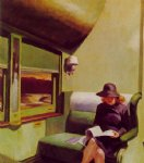 compartment car by edward hopper painting