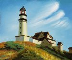 edward hopper lighthouse at two lights paintings-34926