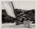 boat paintings - the cat boat by edward hopper