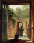 a philadelphia doorway by edward lamson henry painting