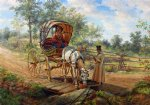 at the watering trough by edward lamson henry painting