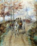 carriage ride by edward lamson henry painting