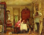 drafting the letter by edward lamson henry painting