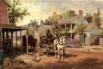 edward lamson henry horse and buggy on main street painting 34838