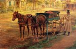 edward lamson henry horse and buggy painting