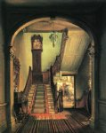 the old clock on the stairs by edward lamson henry painting