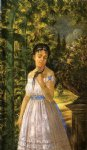 edward lamson henry young girl with a parrot painting