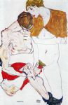 egon schiele courting couple art