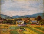 egon schiele landscape in lower austria painting 34550