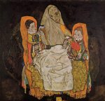 mother with two children by egon schiele painting