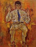 portrait paintings - portrait of albert paris von gutersloh by egon schiele