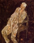 portrait paintings - portrait of an old man by egon schiele