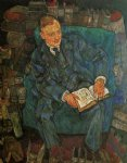 portrait of dr. hugo koller by egon schiele painting