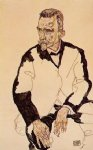 portrait of heinrich benesch by egon schiele painting