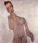 portrait paintings - portrait of karl zakovsek by egon schiele