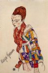 portrait paintings - portrait of marga boerner by egon schiele