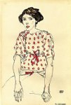 portrait paintings - portrait of miss waerndorfer by egon schiele