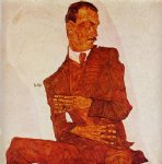 portrait paintings - portrait of the art critic arthur roessler by egon schiele