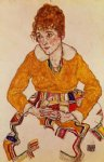 egon schiele portrait of the artist s wife painting 34604