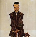portrait paintings - portrait of the publisher eduard kosmack by egon schiele