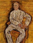 portrait paintings - portrait of victor ritter von bauer by egon schiele