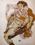 egon schiele seated couple art