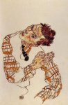 portrait paintings - self portrait iii by egon schiele