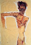 portrait paintings - self portrait v by egon schiele