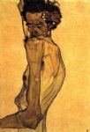 egon schiele self portrait with arm twisting above head painting 34652