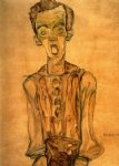 egon schiele self portrait painting