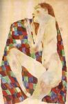 egon schiele sleeping girl painting