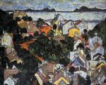 egon schiele summer landscape_ krumau paintings
