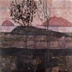 egon schiele sundown painting