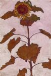 egon schiele sunflower 1 painting