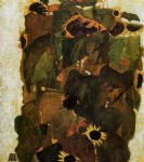 sunflowers by egon schiele painting