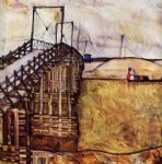 the bridge by egon schiele painting