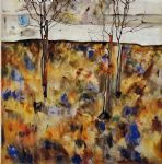 winter trees by egon schiele painting