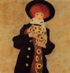 egon schiele woman with black hat painting
