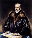a prelate by el greco painting