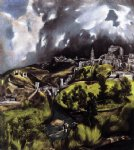 a view of toledo by el greco painting